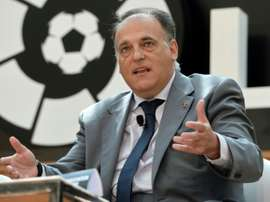 Javier Tebas has escalated the league's attempts to push through the match at the Miami venue. AFP