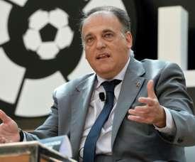 Le président de la Liga Javier Tebas. AFP