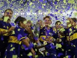 Boca Juniors premier champion d'Argentine féminin professionnel. afp