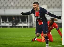 Icardi, retour gagnant pour le PSG. AFP