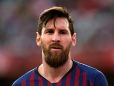 Lionel Messi auteur d'un triplé lors de la victoire 4-2 . AFP