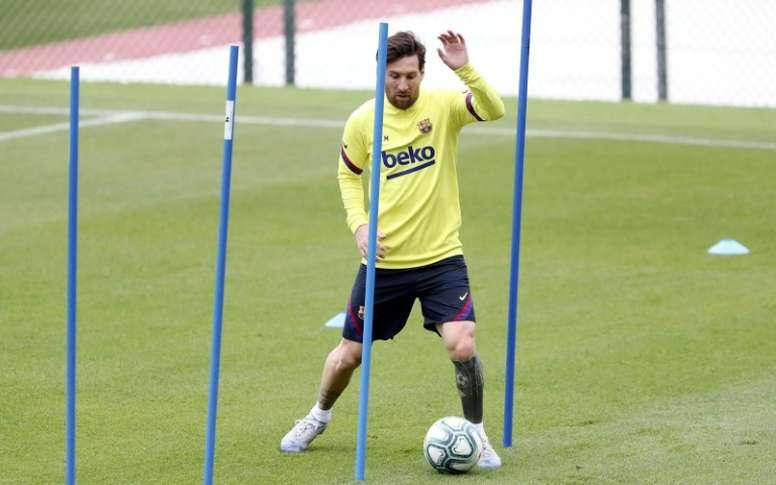Messi si infortuna. AFP