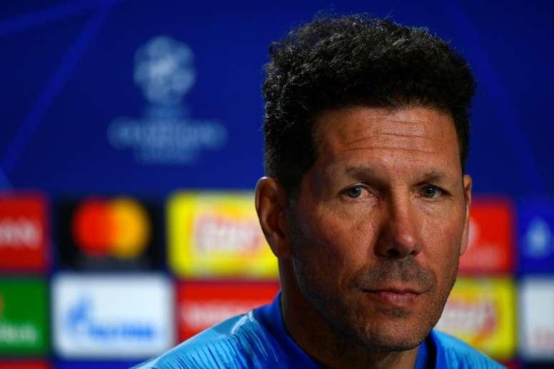 Simeone valoró el trabajo de todo el Atlético en Balaídos. AFP