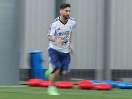 Messi et les siens devaient jouer contre Israël samedi. AFP
