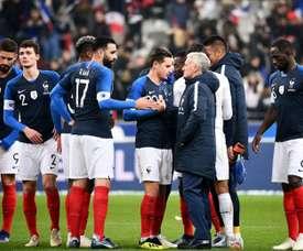 Didier Deschamps à lissue du match amical face à l'Uruguay. AFP