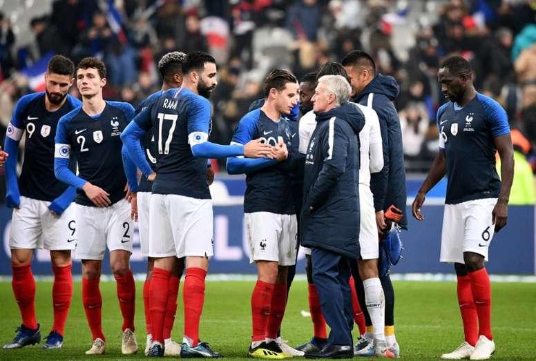 La liste des Bleus de Deschamps pour le début des qualifications à l'Euro. AFP