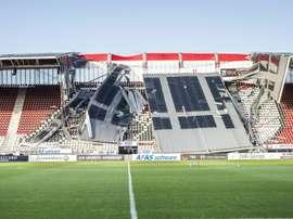 Le stade d'Alkmaar, réparé et sécurisé, apte pour le choc AZ-Ajax. afp