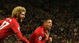 L'attaquant de Manchester United Alexis Sanchez. AFP