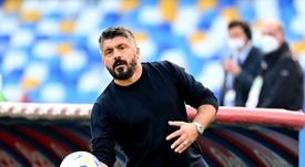 Gattuso habló sobre cómo vive Nápoles la muerte de Maradona. AFP
