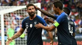 El tanto del delantero del Chelsea dio la victoria a Francia. AFP