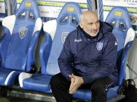 François Ciccolini, alors entraîneur de Bastia. AFP