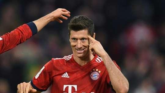 O Chelsea poderá estar interessado em Lewandowski. AFP