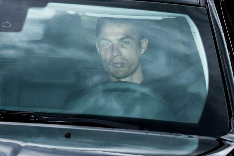 Ronaldo de retour au centre d'entraînement à Turin. AFP