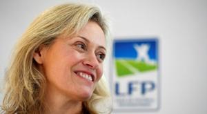 La présidente de la LFP Nathalie Boy de la Tour. AFP