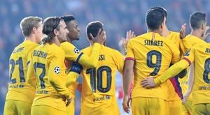 Barcelone s'impose difficilement à Prague. AFP