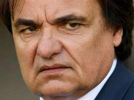 Le président du FC Sion, Christian Constantin suit le match face au FC Bâle. GOAL