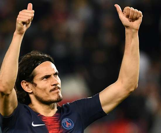 PSG want to extend Cavani's contract by another year. AFP
