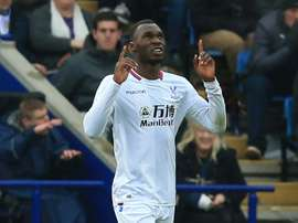 Benteke is nearing recovery. AFP