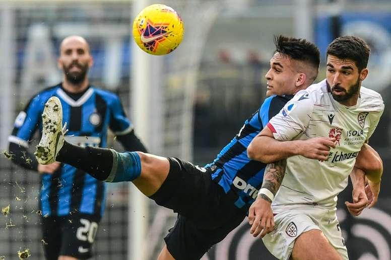 El Inter empieza a trabajar en la renovación de Lautaro. AFP