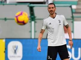 Bonucci a halluciné avec Cristiano. AFP