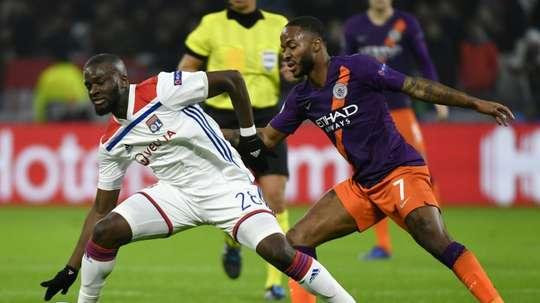 Tanguy Ndombélé lors du match nul 2-2 face à City. AFP