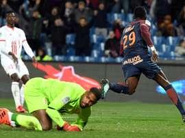Maignan est battu pour la 3e fois de la soirée. AFP
