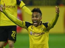 Aubameyang anotó el gol del Borussia. AFP