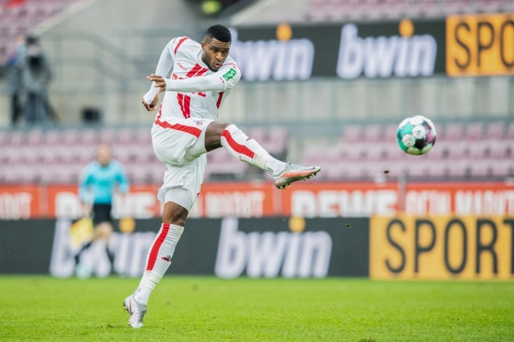 Anthony Modeste scored as Cologne beat Hertha Berlin 3-1. AFP