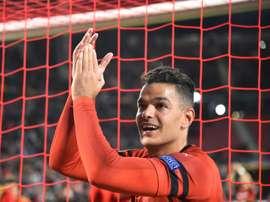 L'attaquant de Rennes, Hatem Ben Arfa. AFP