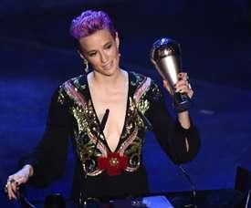 Rapinoe won the Ballon d'Or. AFP