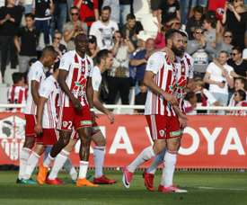 Les joueurs de l'AC Ajaccio. AFP