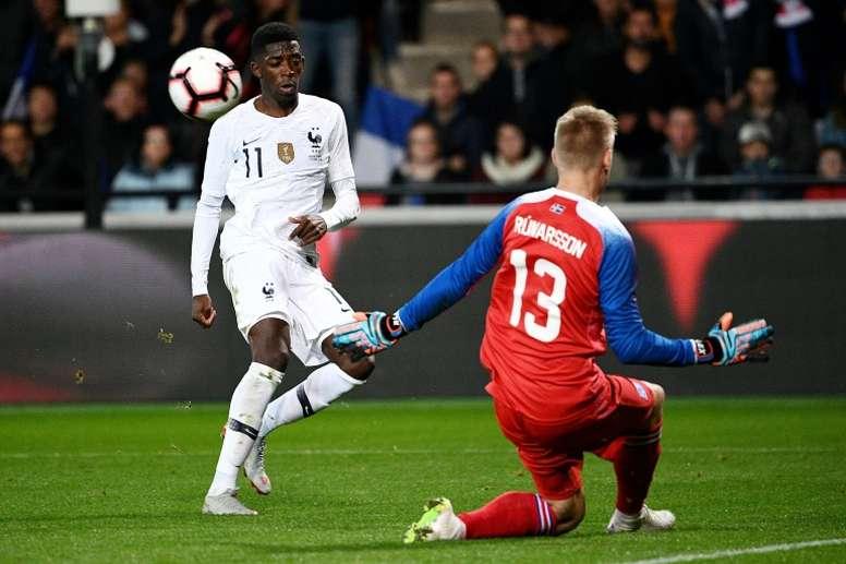 L'attaquant des Bleus Ousmane Dembélé.