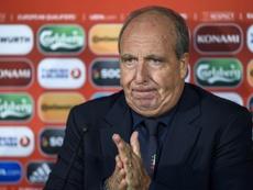 L'entraîneur de l'Italie Giampiero Ventura en conférence de presse, le 11 novembre 2016 à Vaduz. AFP