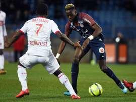Junior Sambia jouera contre Lyon. AFP