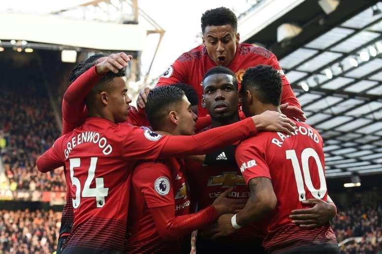 O United tem conseguido conquistas épicas nos últimos minutos. AFP