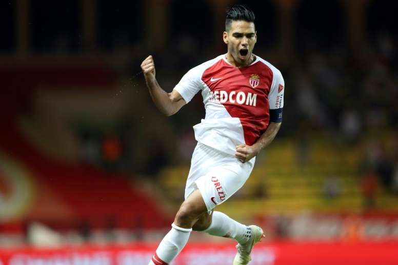 L'attaquant de Monaco Radamel Falcao. AFP