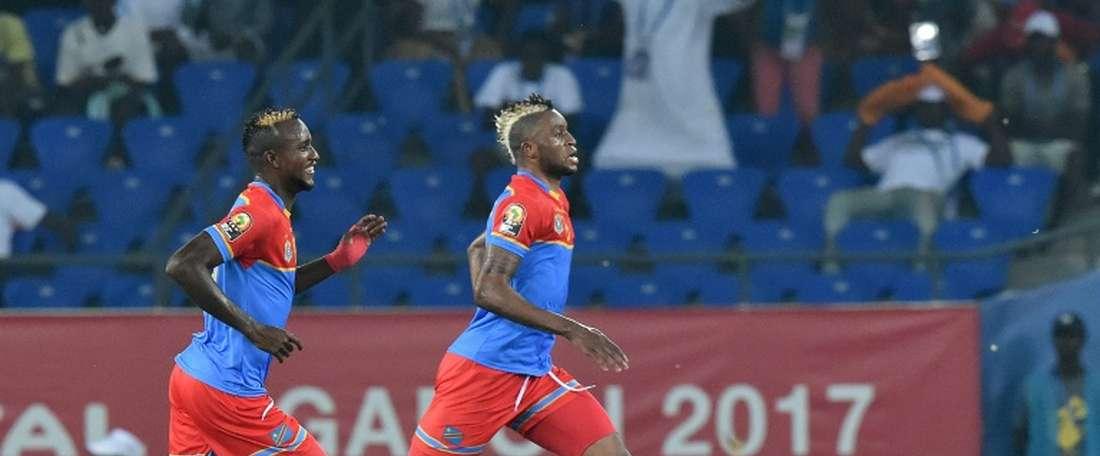 El delantero de El Congo le dio la victoria a su equipo. AFP