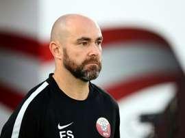 Félix Sanchez est le sélectionneur du Qatar. AFP