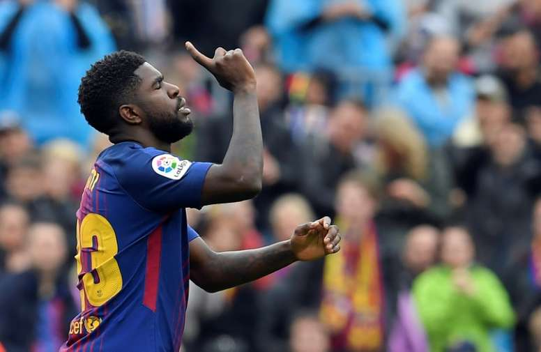 Umtiti will be offered a new deal. AFP