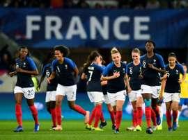 La France joue face à l'Allemagne. AFP