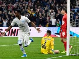 Bouna Sarr ouvre la marque contre Brest. AFP