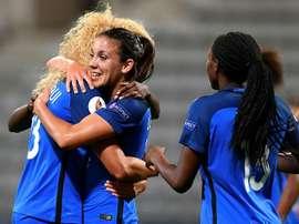 L'attaquante de l'équipe de France Clarisse Le Bihan. AFP