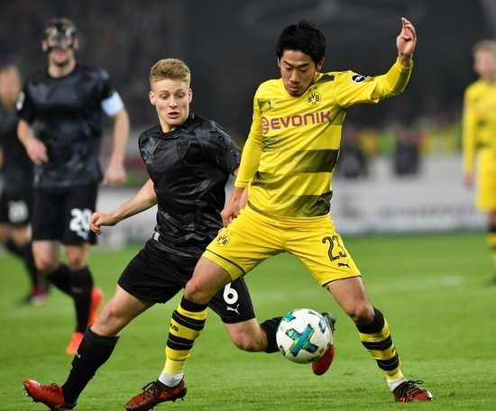 Hertha e Borussia empataram em 1-1 nesta sexta-feira. AFP