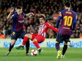 Lenglet évoque la relation entre Griezmann et Messi. AFP