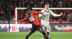 Eduardo Camavinga, meia de 17 anos do Rennes, interessa ao Real Madrid. AFP
