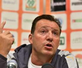O antigo internacional belga não realizou o melhor dos trabalhos na Seleção africana, AFP