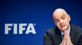 Le président de la Fédération internationale de football, Gianni Infantino. AFP