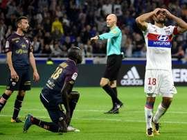 Lyon e Dijon empataram a três bolas. AFP