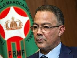 Le président de la Fédération marocaine Fouzi Lekjaa. AFP