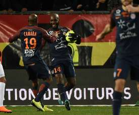 El gol en el Montpellier, propiedad africana. AFP